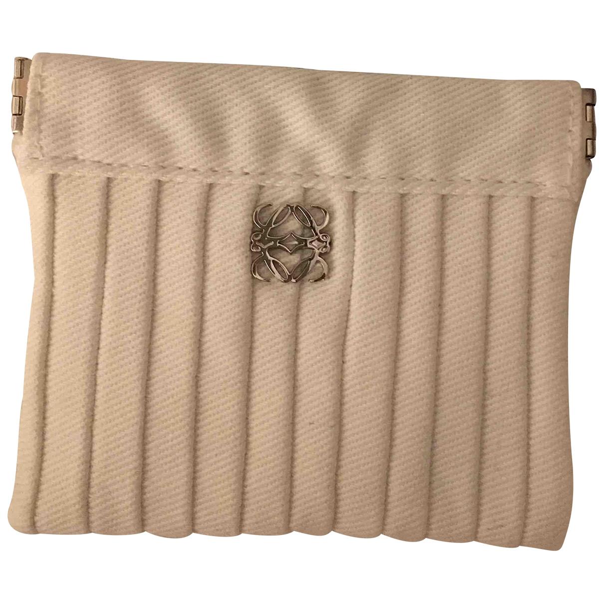 Loewe - Petite maroquinerie   pour femme en coton - blanc