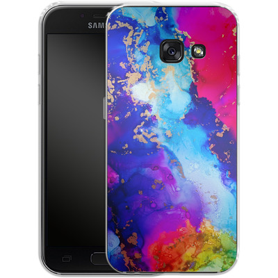 Samsung Galaxy A3 (2017) Silikon Handyhuelle - Cosmic Swirl II von Stella Lightheart