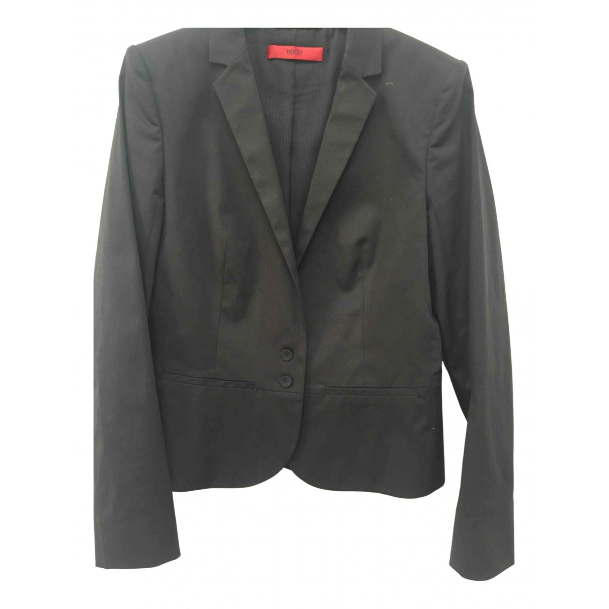 Hugo Boss - Veste   pour femme en coton - noir