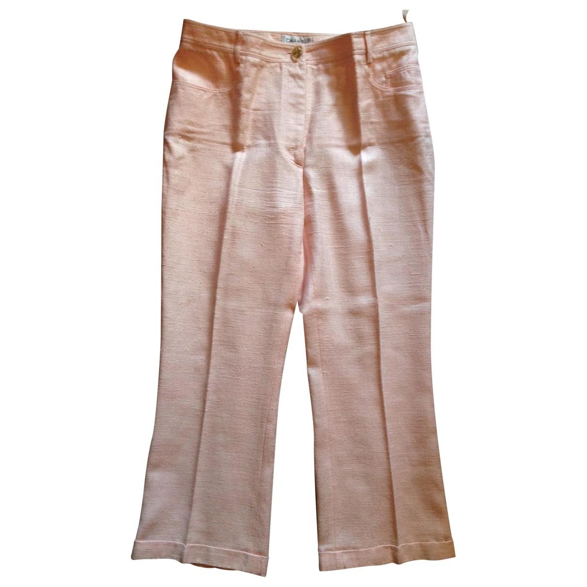 Pantalon largo de Seda Chanel