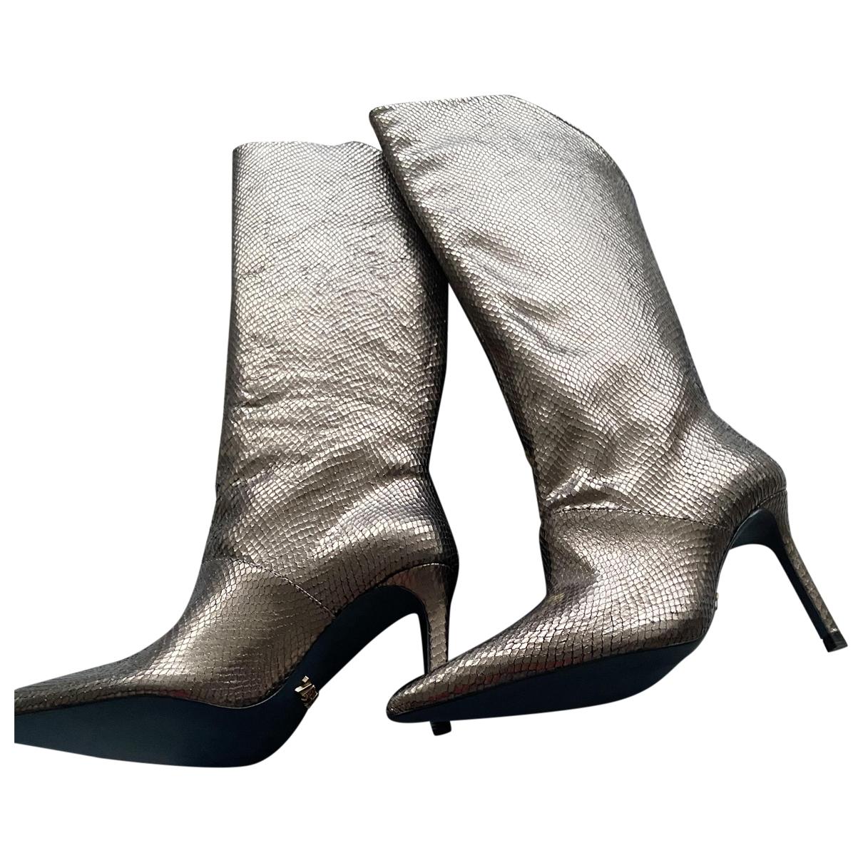 Botas altas de Cuero Zara