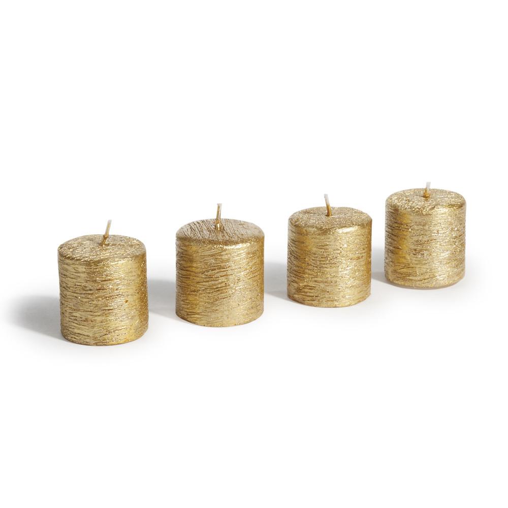 4 Kerzen, vergoldet