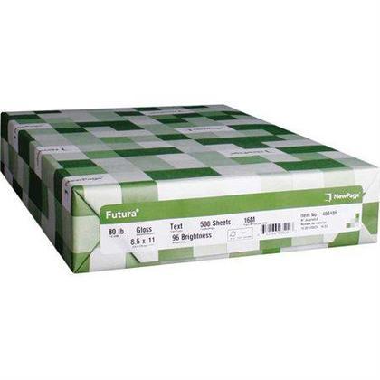Newpage® Futura Papier Laser Gloss, 80 lbs, 96 Bright, Letter / 12 '' x 18 ''