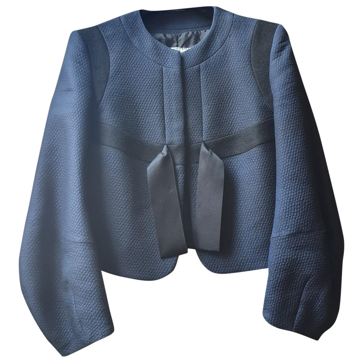 Valentino Garavani - Veste   pour femme en laine - bleu