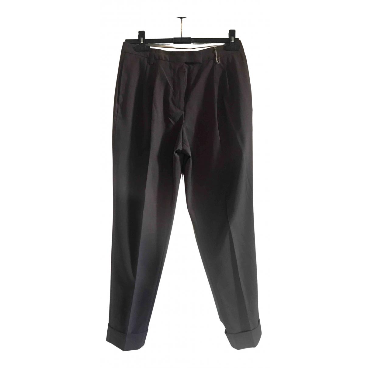 Paul Smith N Brown Wool Trousers for Women 42 IT