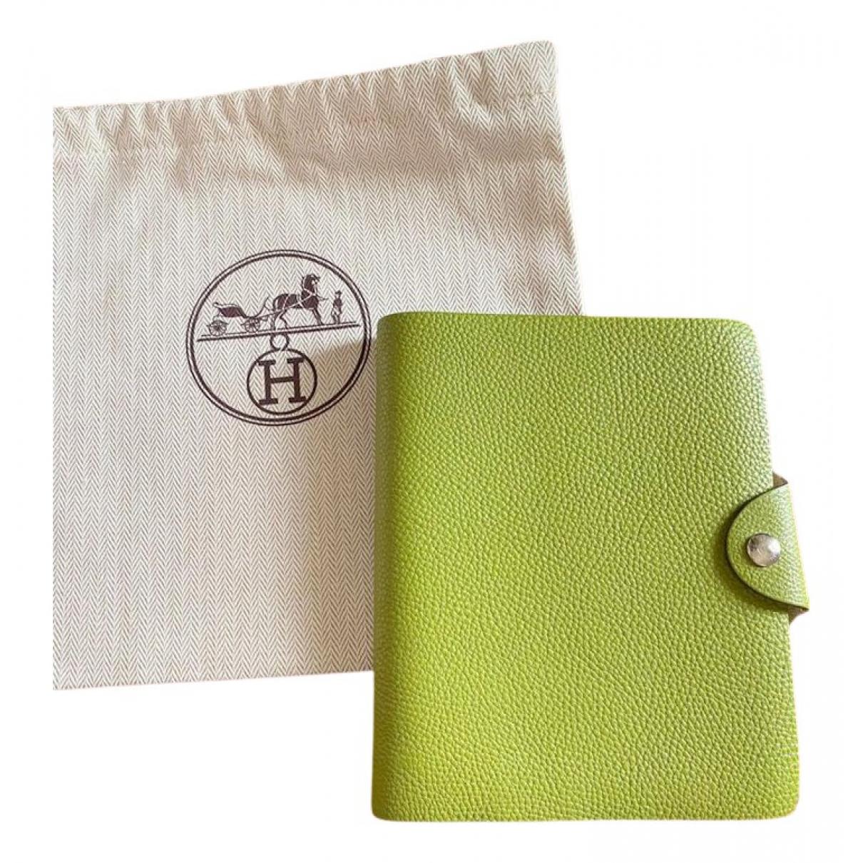 Hermes - Objets & Deco Ulysse PM pour lifestyle en cuir - vert