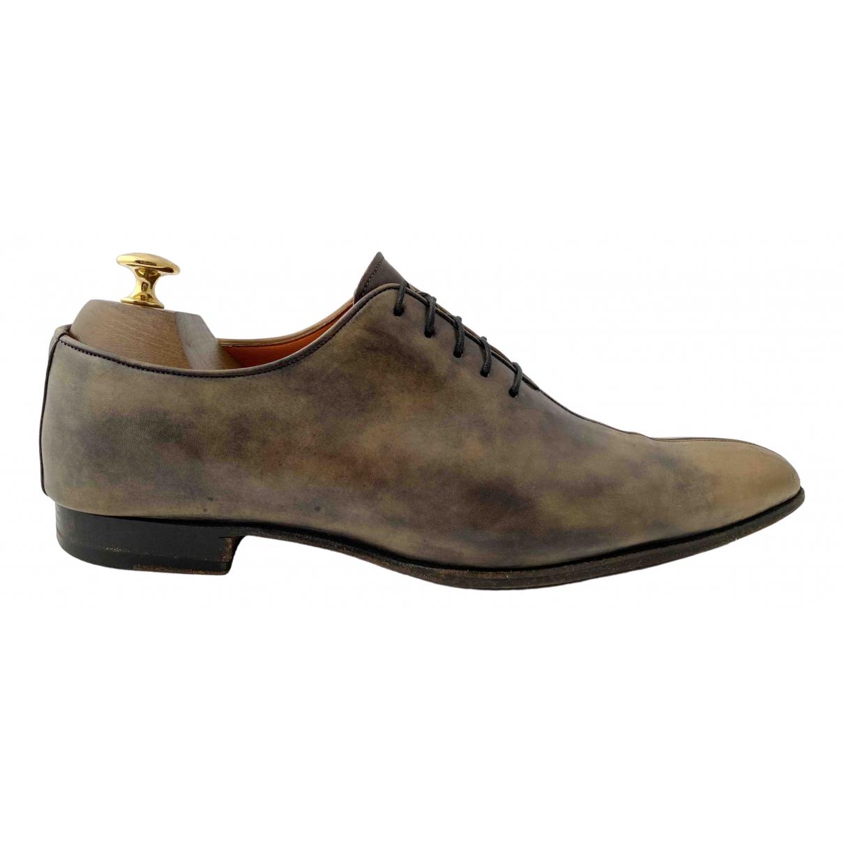 Santoni \N Leather Lace ups for Men 7 UK
