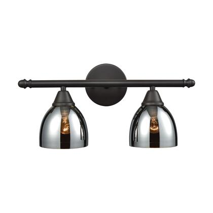 10271/2 Reflections 2 Light Vanity in Oil Rubbed Bronze with Chrome Plated