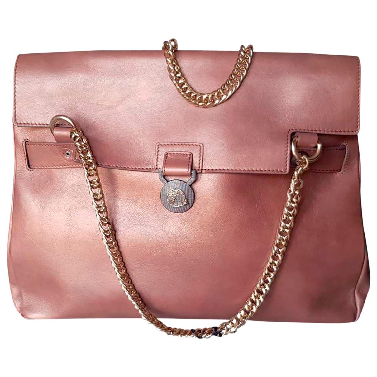 Versace \N Handtasche in  Braun Leder