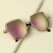 Toddler Kids Hollow Out Metal Frame Sunglasses