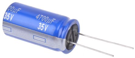 Panasonic 4700μF Electrolytic Capacitor 35V dc, Through Hole - ECA1VAM472X