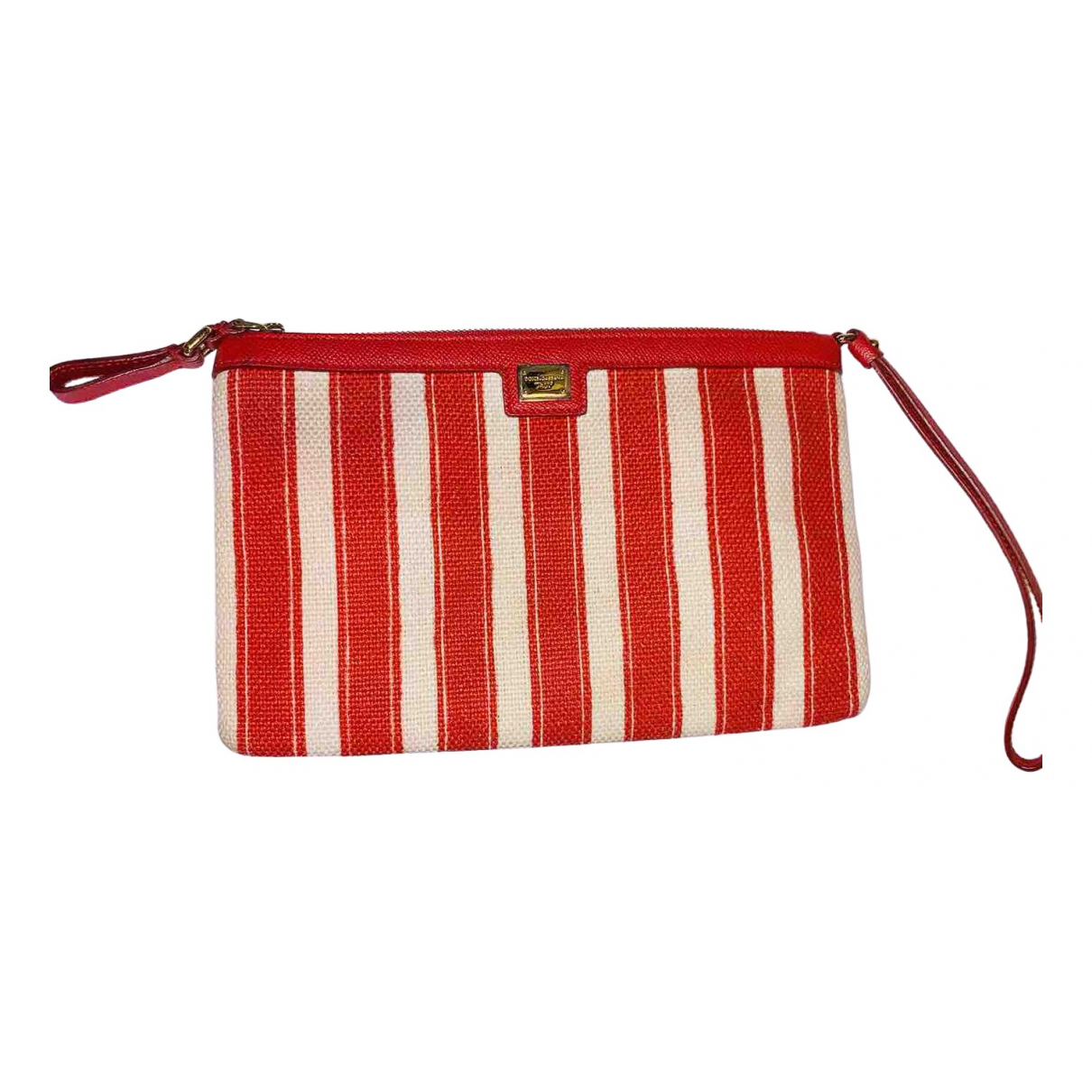 Dolce & Gabbana \N Clutch in  Rot Leinen