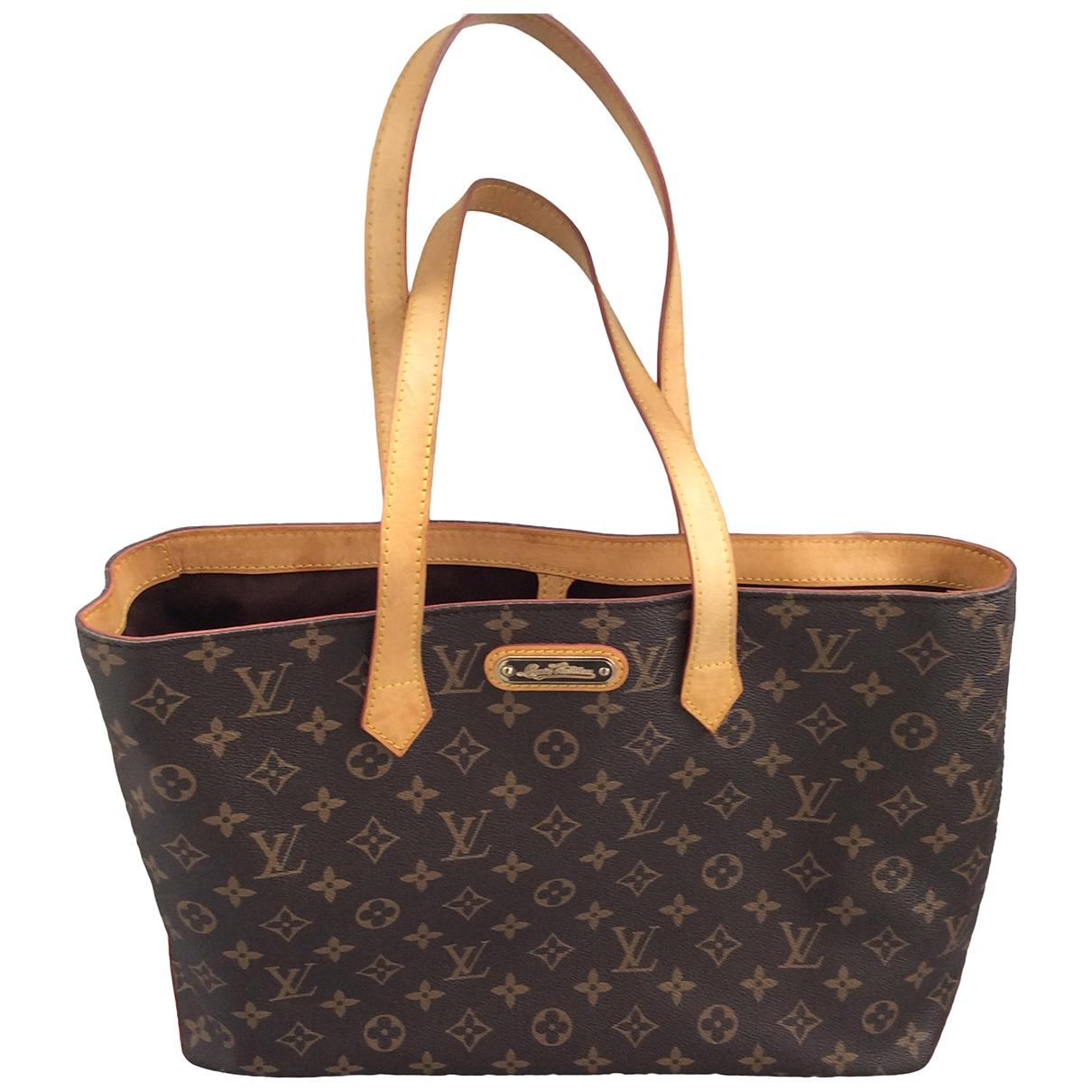 Louis Vuitton Wilshire Handtasche in  Braun Leinen