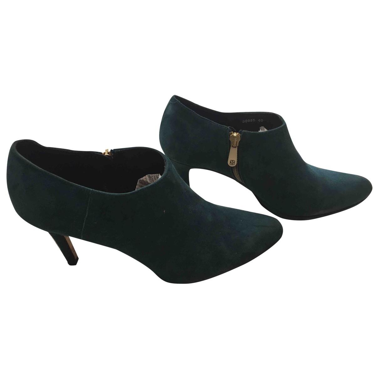 Lk Bennett - Bottes   pour femme en suede - bleu