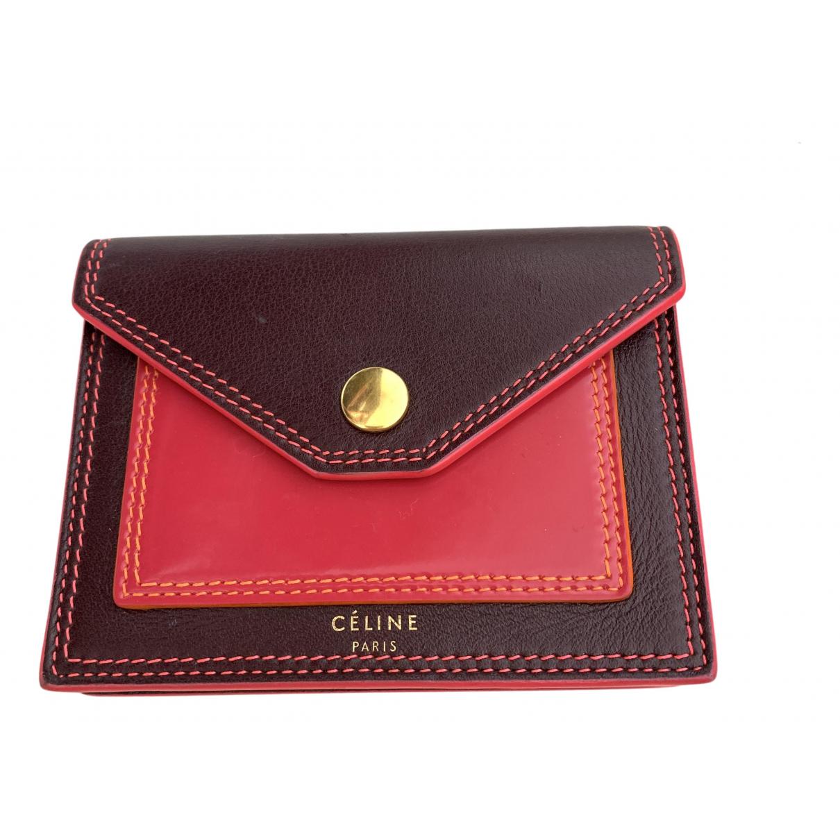Celine \N Kleinlederwaren in  Rot Leder