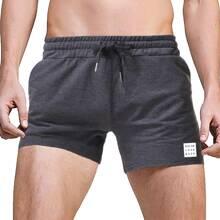 Men Slogan Graphic Drawstring Shorts
