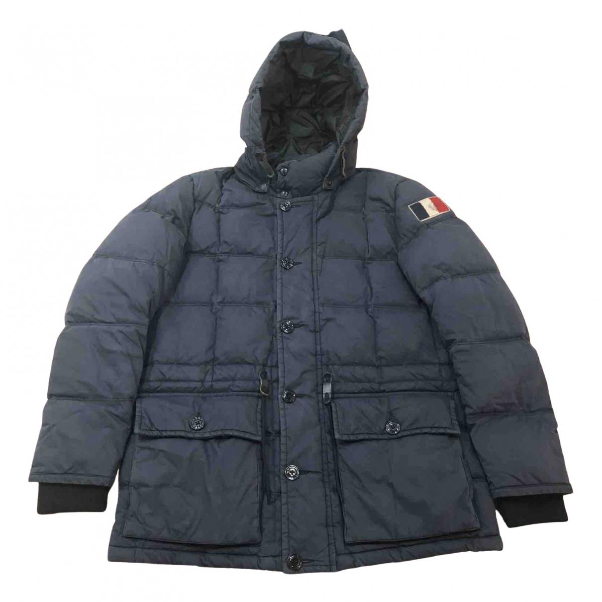 Moncler - Manteau   pour homme en coton - bleu