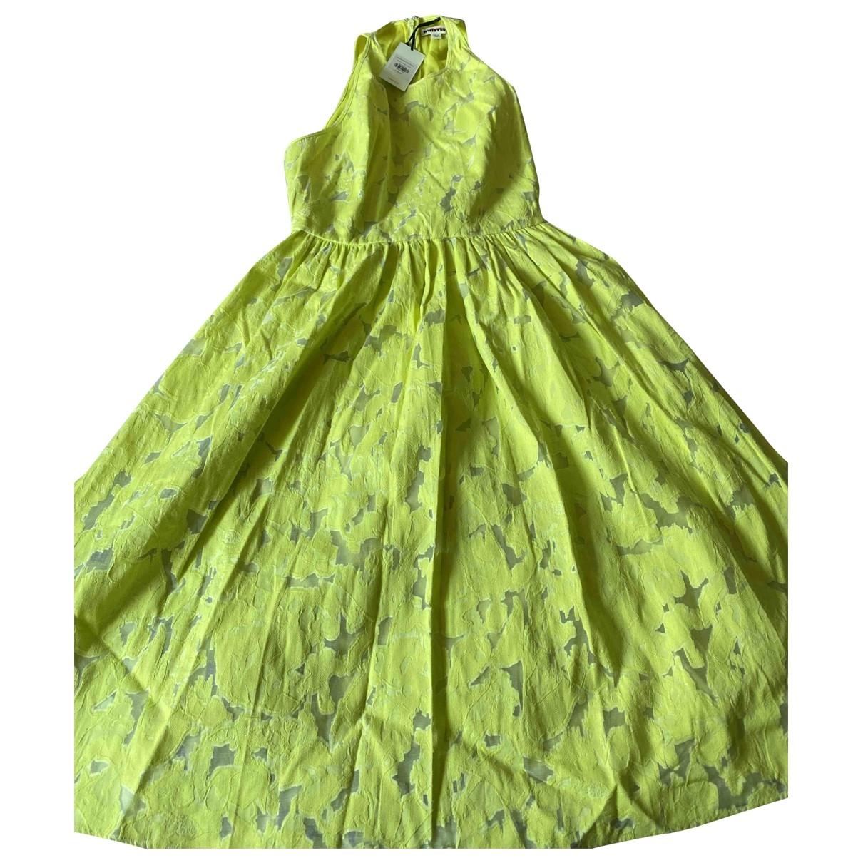 Whistles \N Kleid in  Gelb Baumwolle