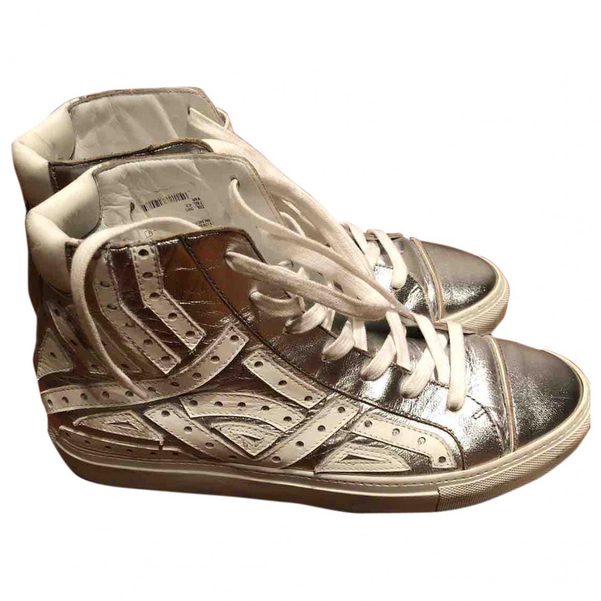 Just Cavalli - Baskets   pour homme en cuir - metallise
