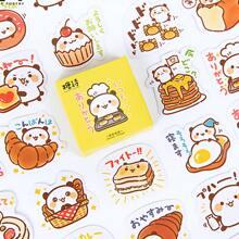 45 Stuecke Aufkleber mit Karikatur Panda Muster