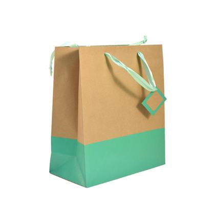 Sac Cadeau Cadeau Sac Or Et Vert Jumbo Taille 16*12*4.75In 1Pc