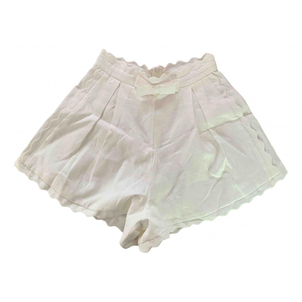 Zimmermann \N Shorts in  Weiss Baumwolle