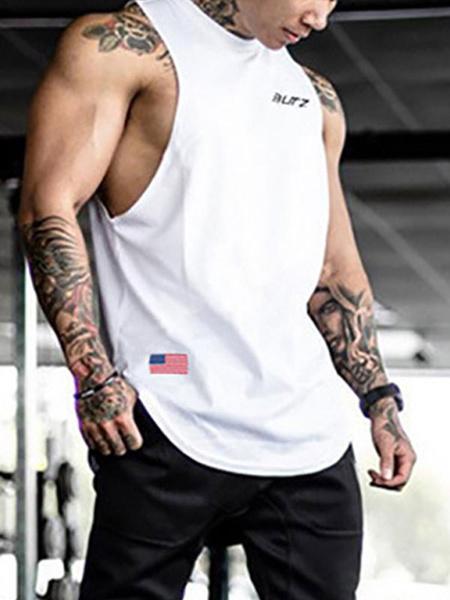 Milanoo Camisetas sin mangas sin mangas para hombres Top negro de verano