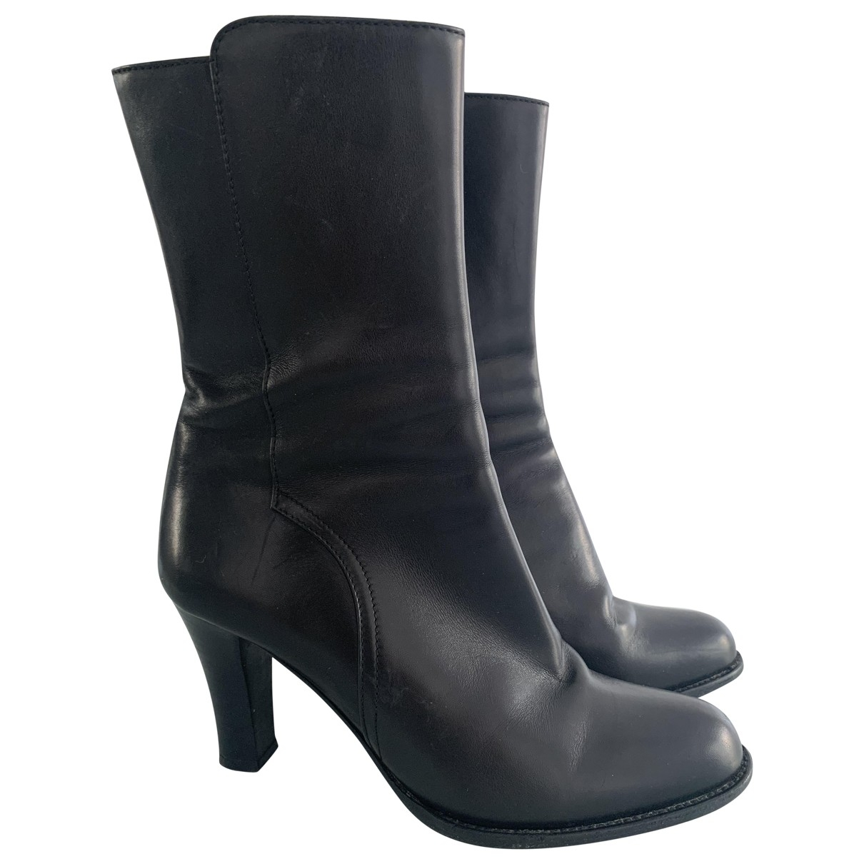 Bally \N Black Leather Boots for Women 36.5 EU