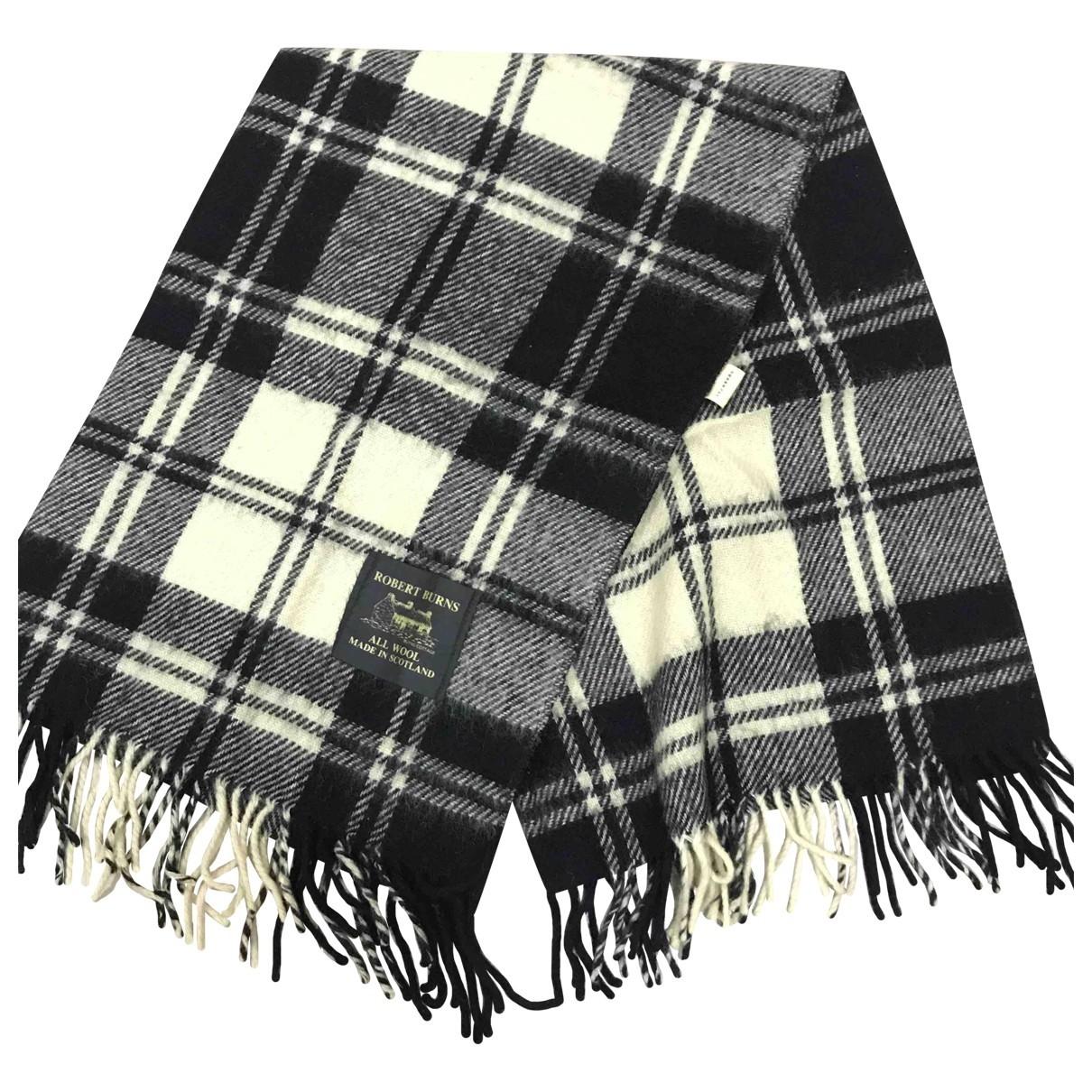- Cheches.Echarpes   pour homme en laine - noir