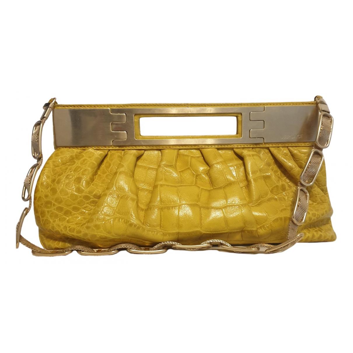 Versace \N Clutch in  Gold Krokodil