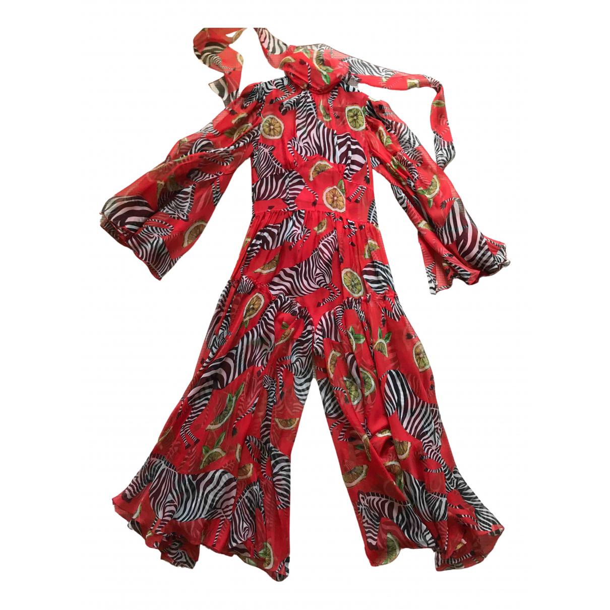 Dolce & Gabbana - Combinaison   pour femme en soie - rouge