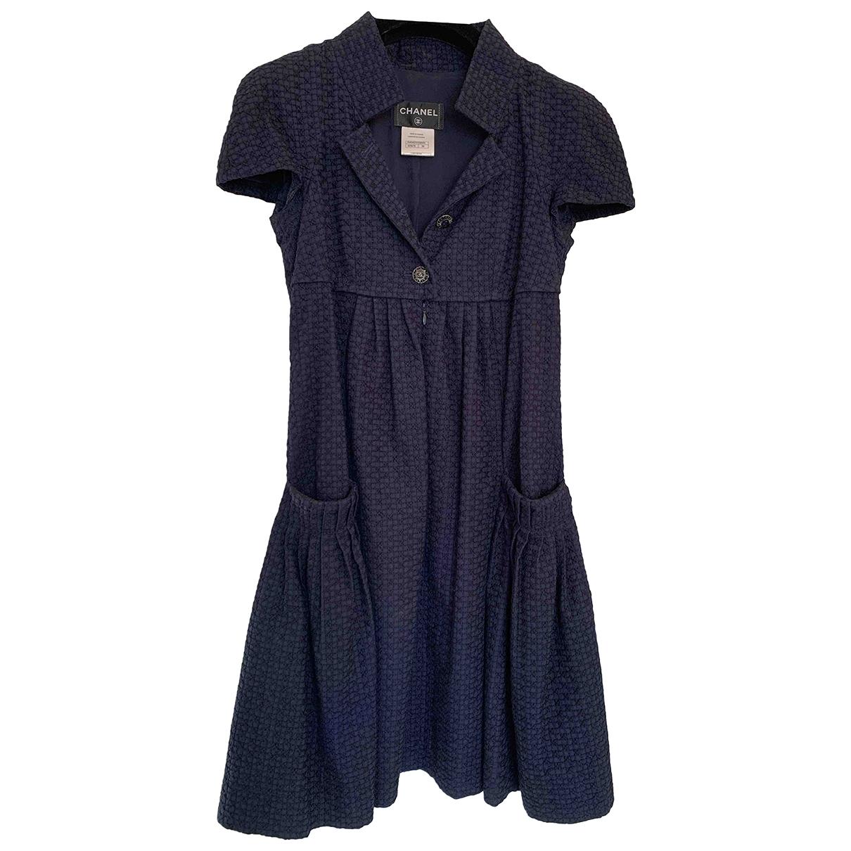 Chanel \N Kleid in  Blau Viskose