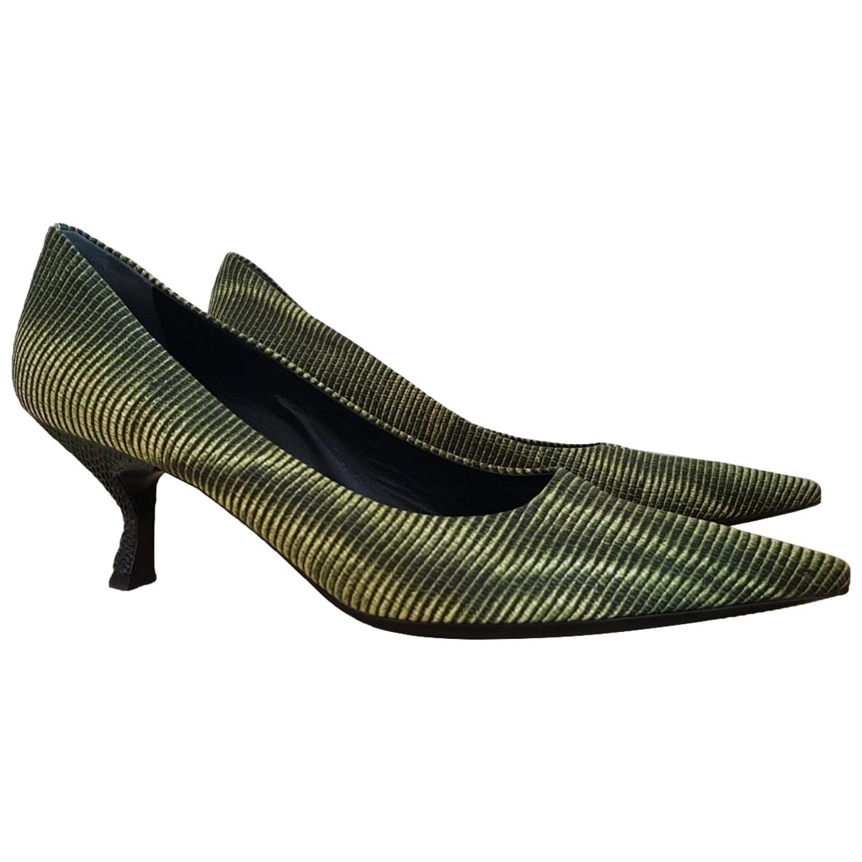 Prada \N Green Cloth Heels for Women 38 EU