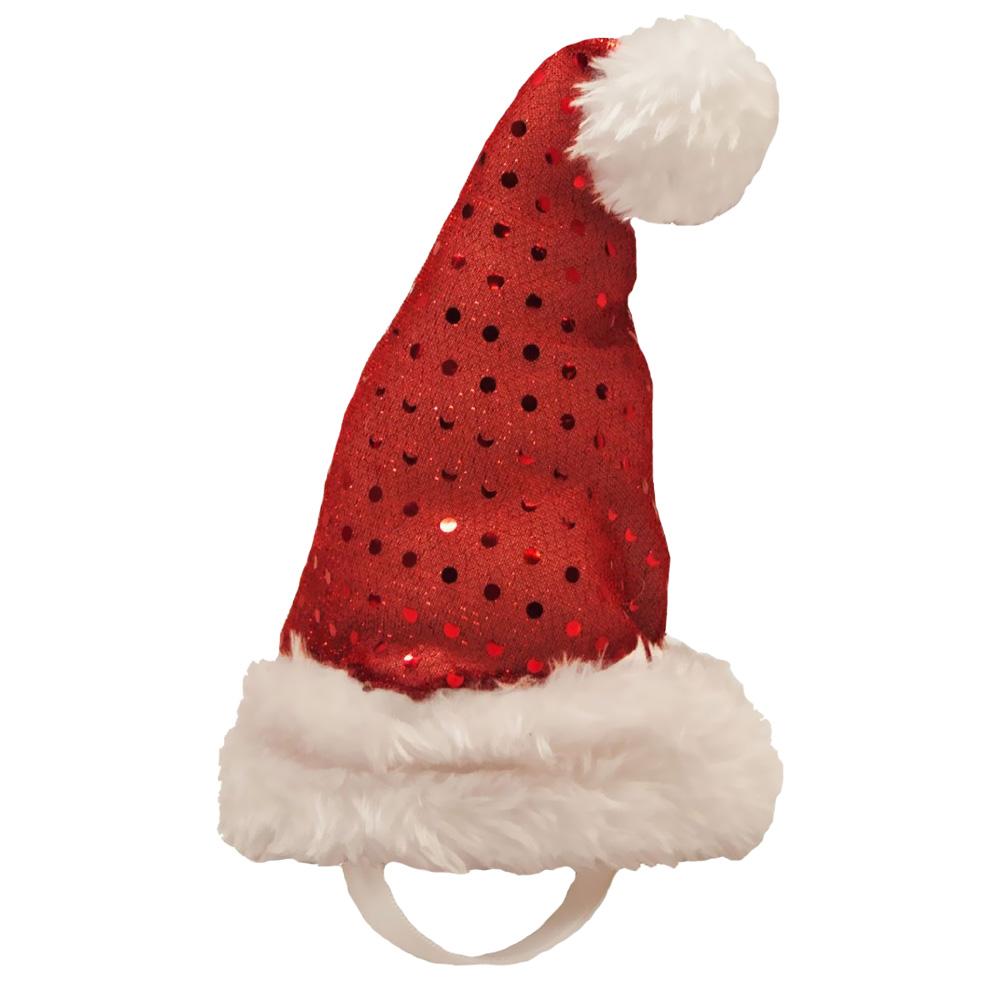 Kyjen Holiday LED Santa Hat - Small