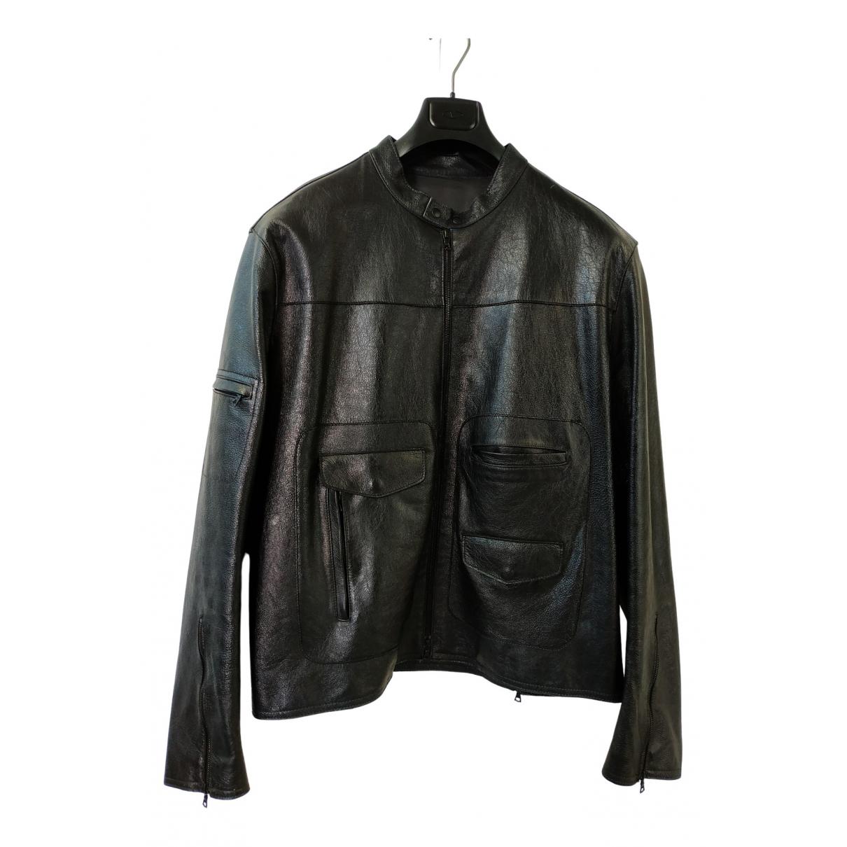 Neil Barrett \N Black Leather jacket  for Men XL International