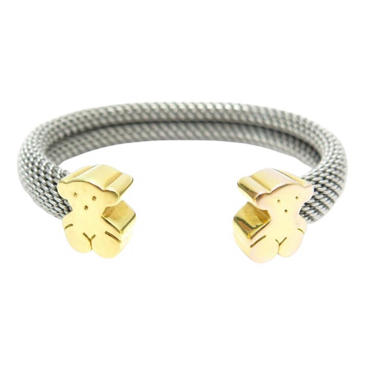Atelier Tous - Bracelet   pour femme en or et acier - argente