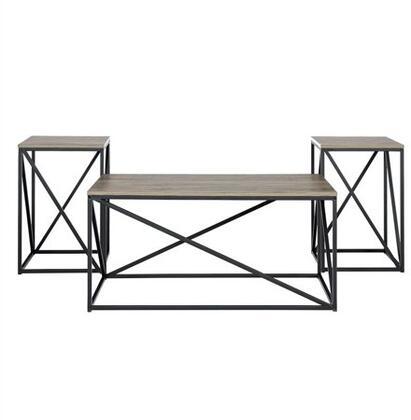 G3AF40GEOSG 3-Piece Geometric Table Set in Slate
