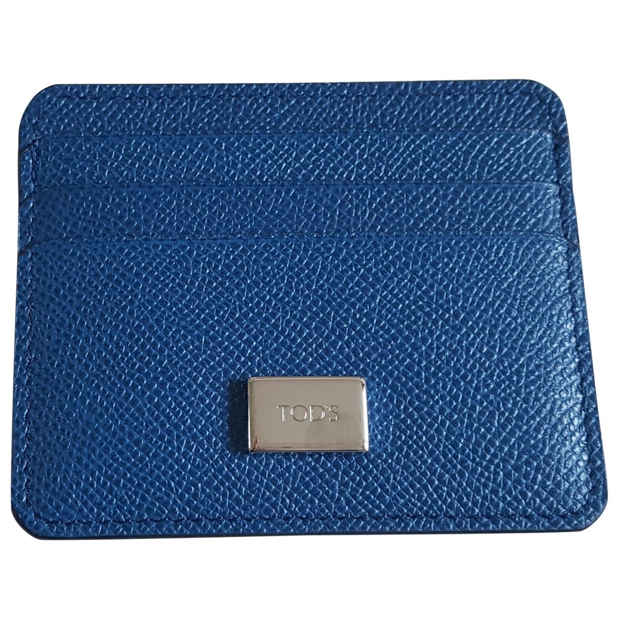 Tods - Petite maroquinerie   pour femme en cuir - bleu