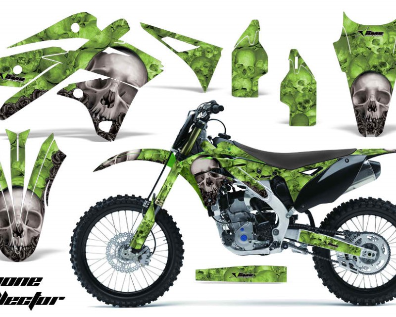 AMR Racing Dirt Bike Graphics Kit Decal Sticker Wrap For Kawasaki KXF250 2013-2016áBONES GREEN