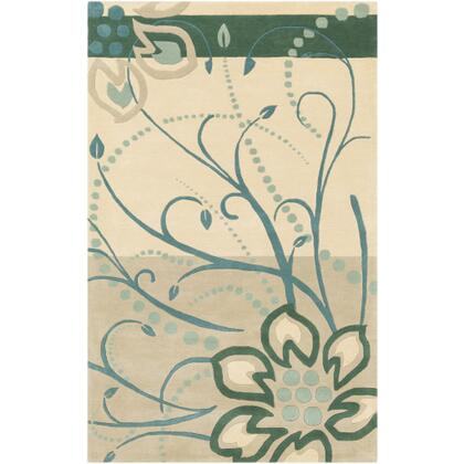 Athena ATH-5154 10' x 14' Rectangle Modern Rug in Dark Green  Teal  Taupe