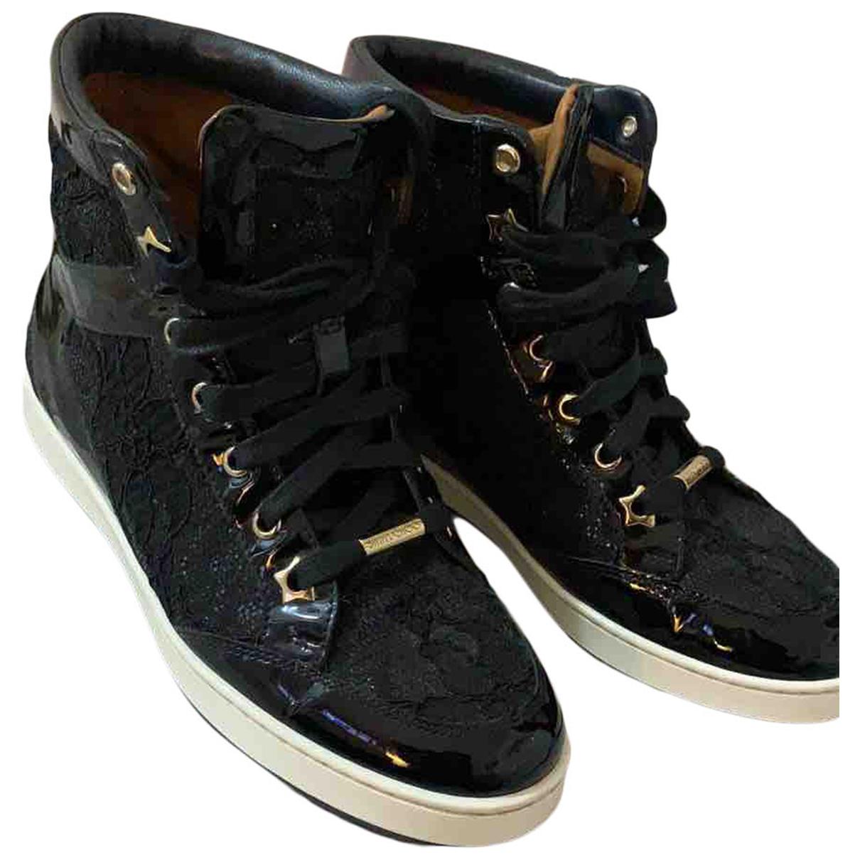 Jimmy Choo \N Sneakers in  Schwarz Leinen