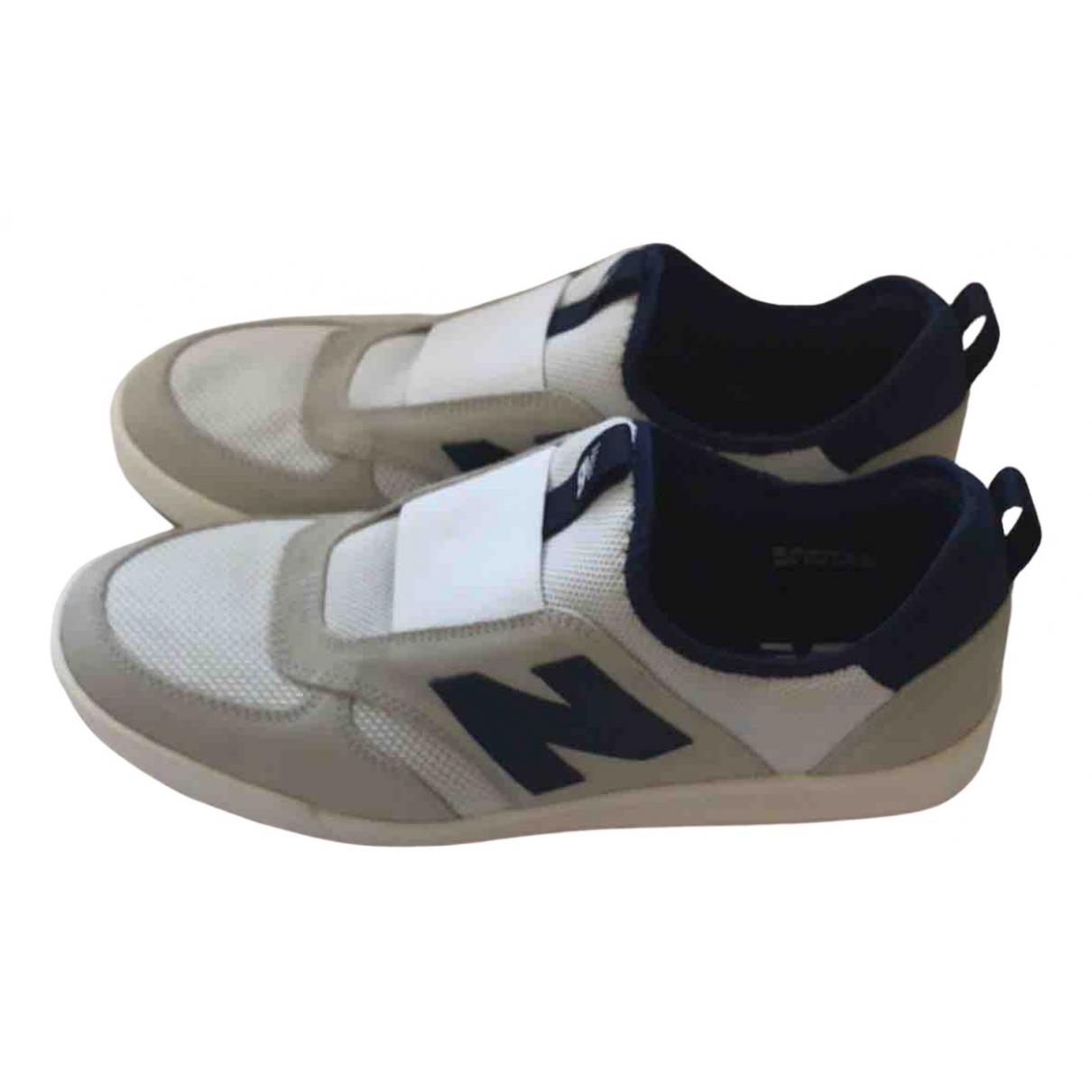 New Balance - Baskets   pour homme en suede - blanc