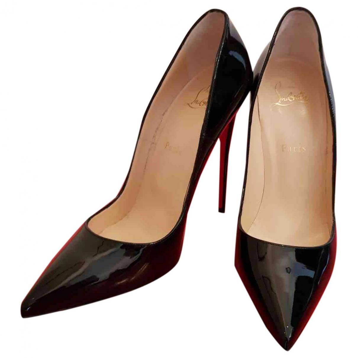 Christian Louboutin - Escarpins So Kate  pour femme en cuir verni - noir