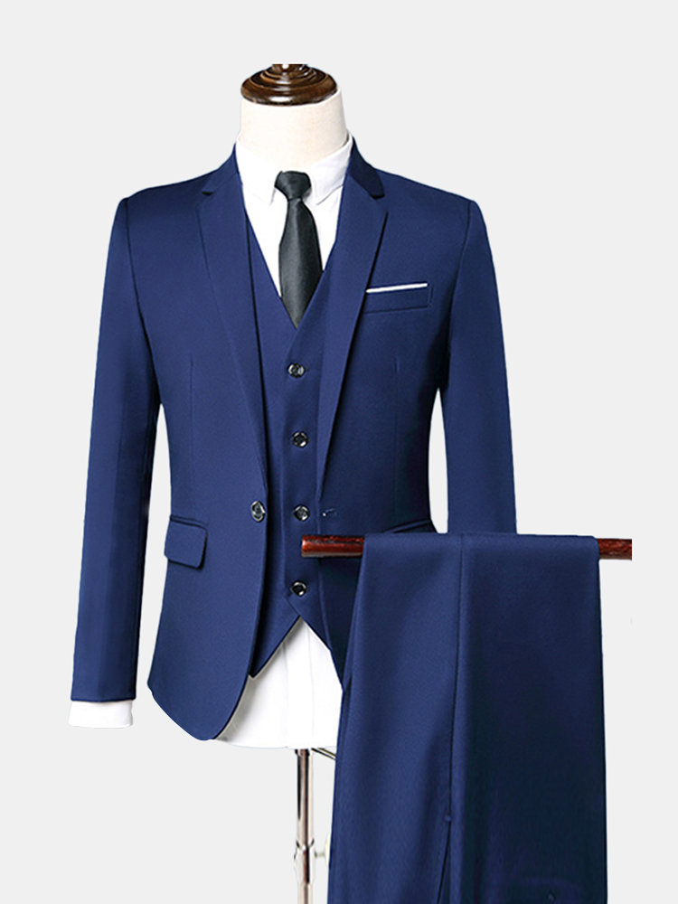 Three Pieces Business Wedding Slim Fit Evening Party Dressing Suit for Men