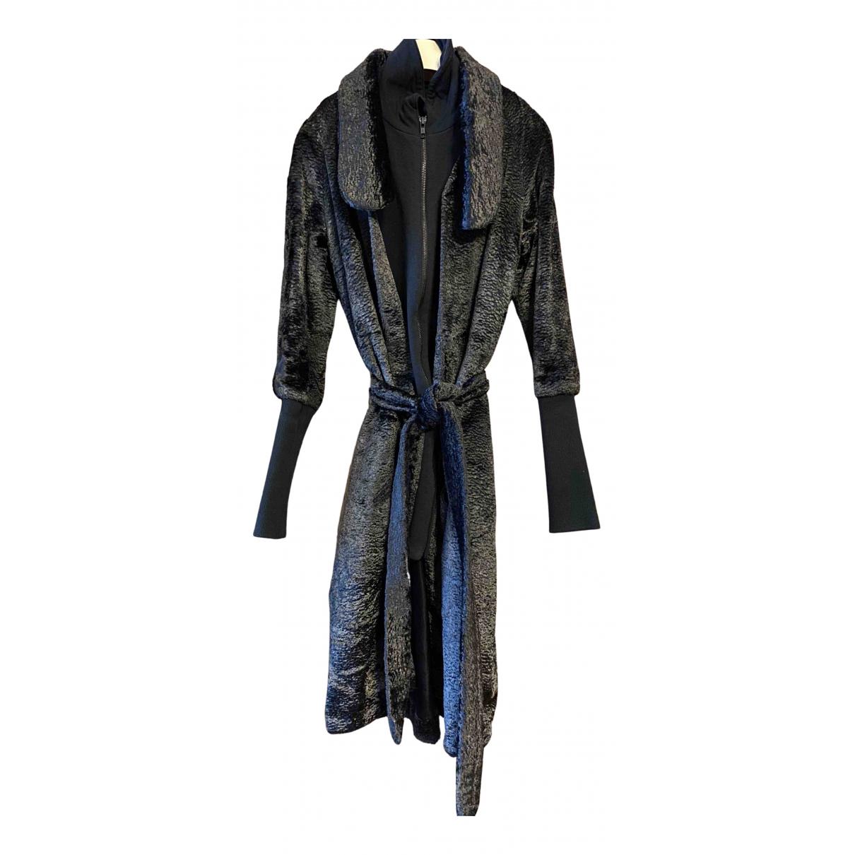 Nanushka - Manteau   pour femme en laine - noir