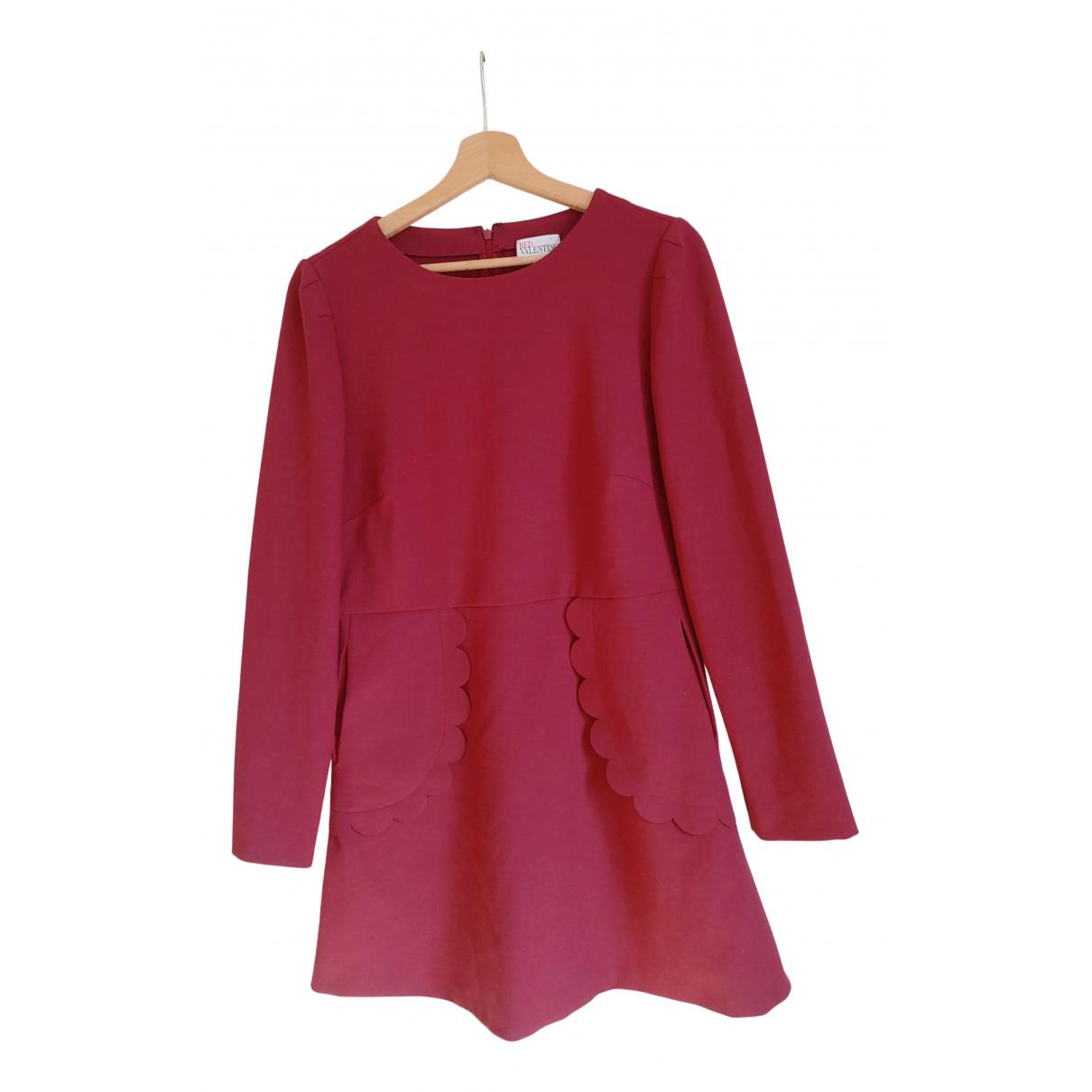 Red Valentino Garavani \N Burgundy dress for Women 46 FR