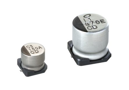 Nichicon 100μF Electrolytic Capacitor 25V dc, Surface Mount - UCD1E101MCL6GS (1000)