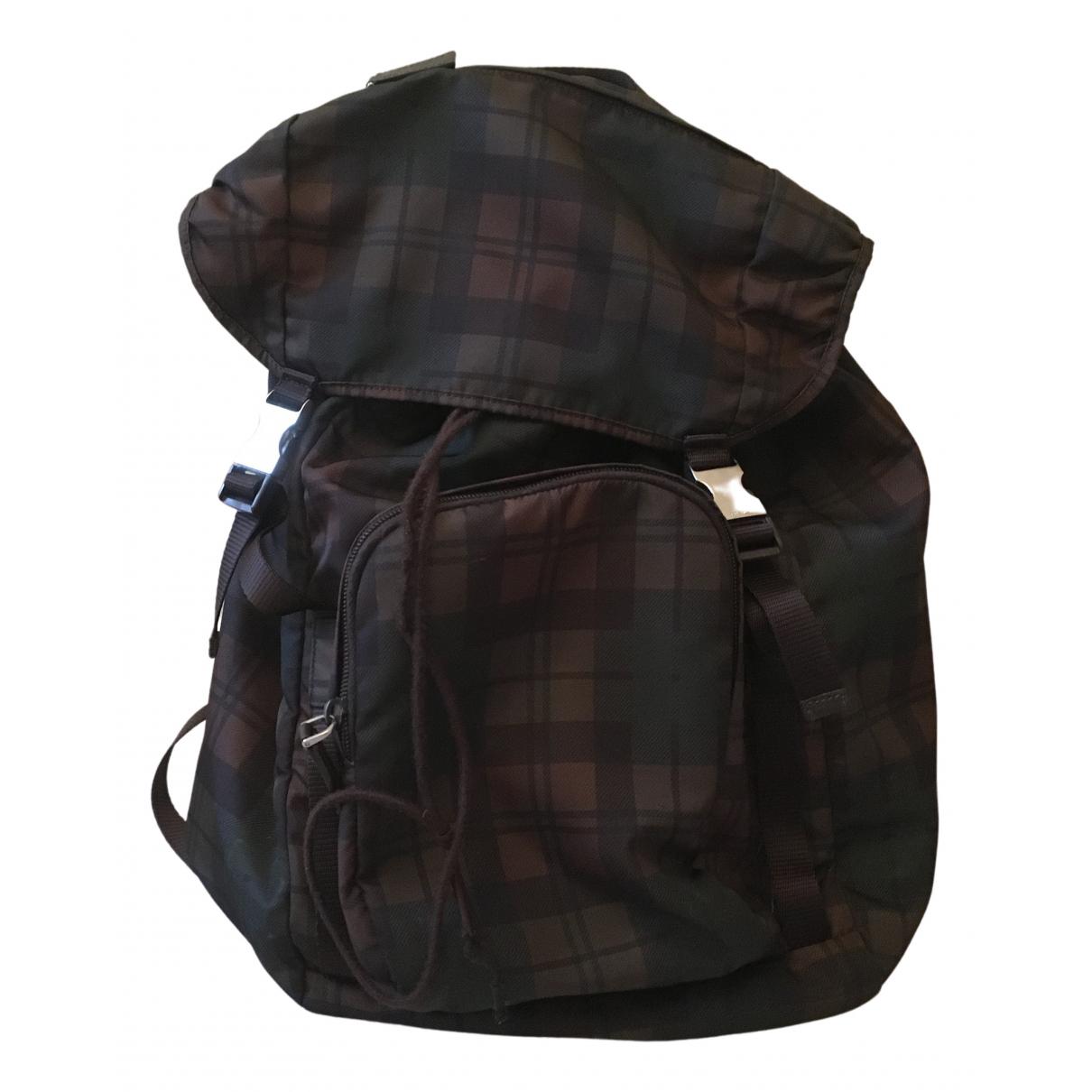 Prada N Brown Leather bag for Men N