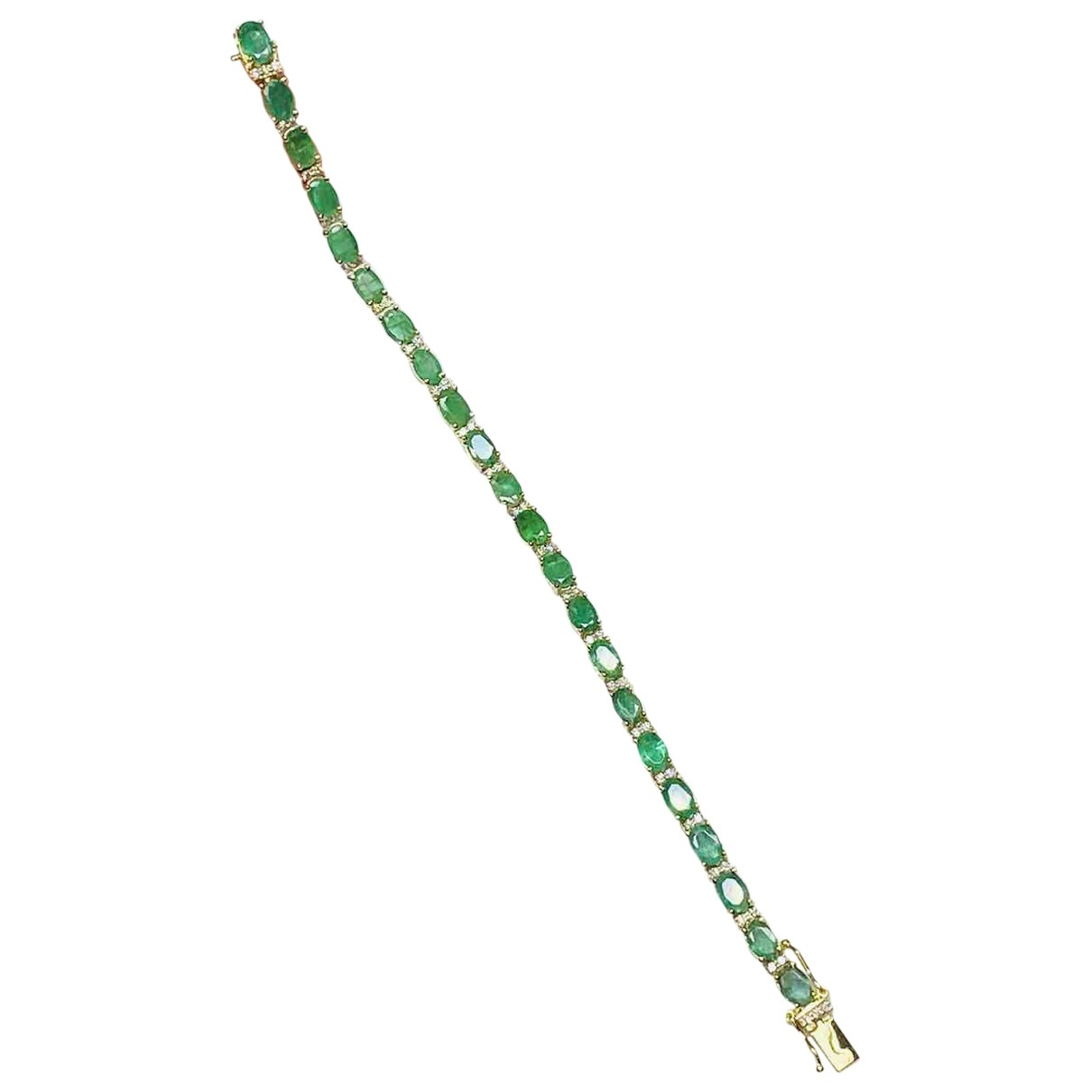 Non Signé / Unsigned \N Green Yellow gold bracelet for Women \N