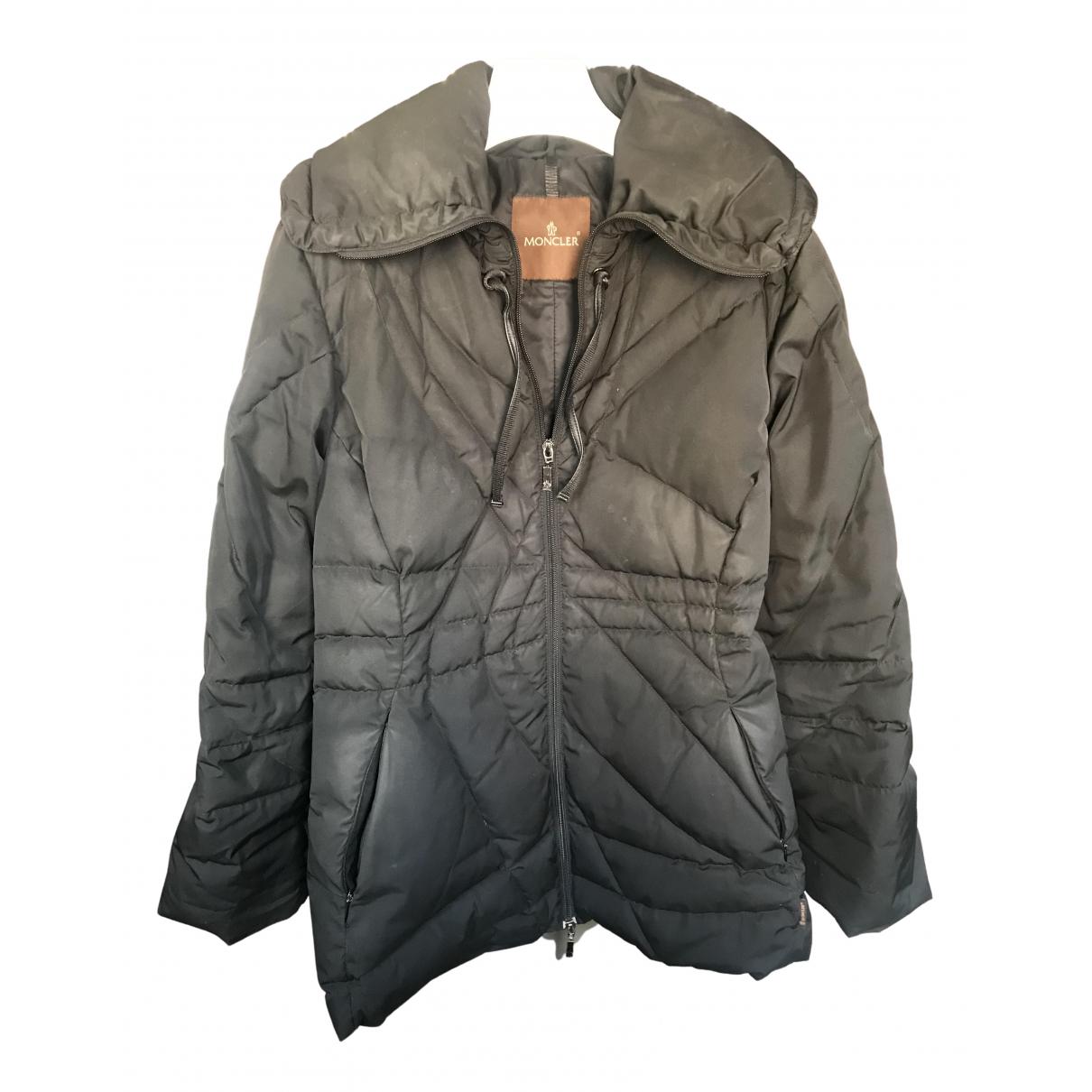 Moncler Classic Jacke in  Schwarz Synthetik